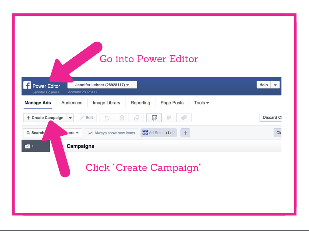 Facebook Lead Generation Ad Step 1