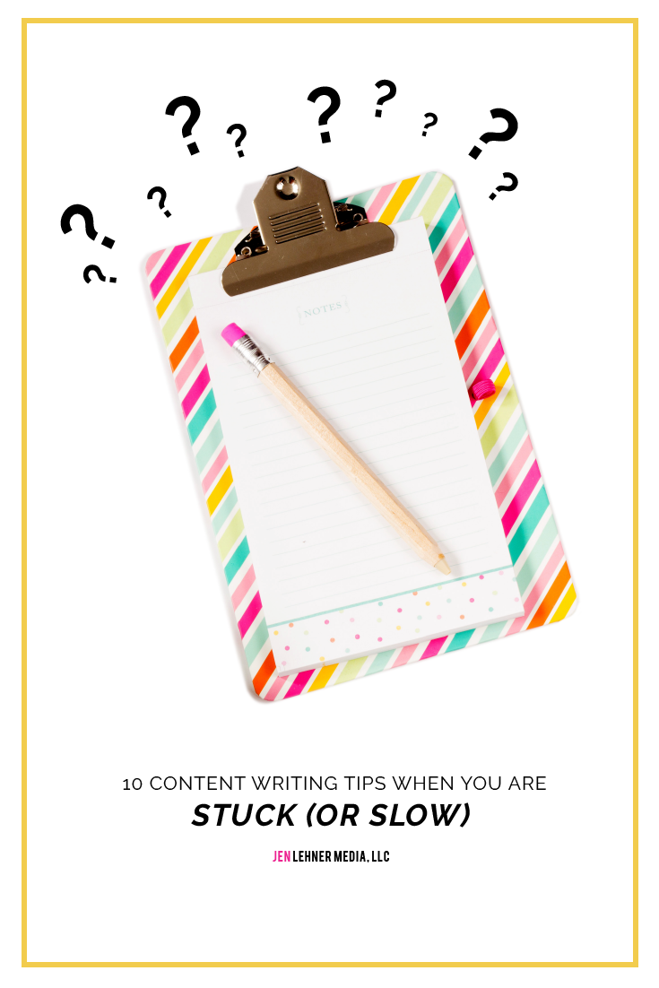 10 Content Writing Tips when You are Stuck or Slow