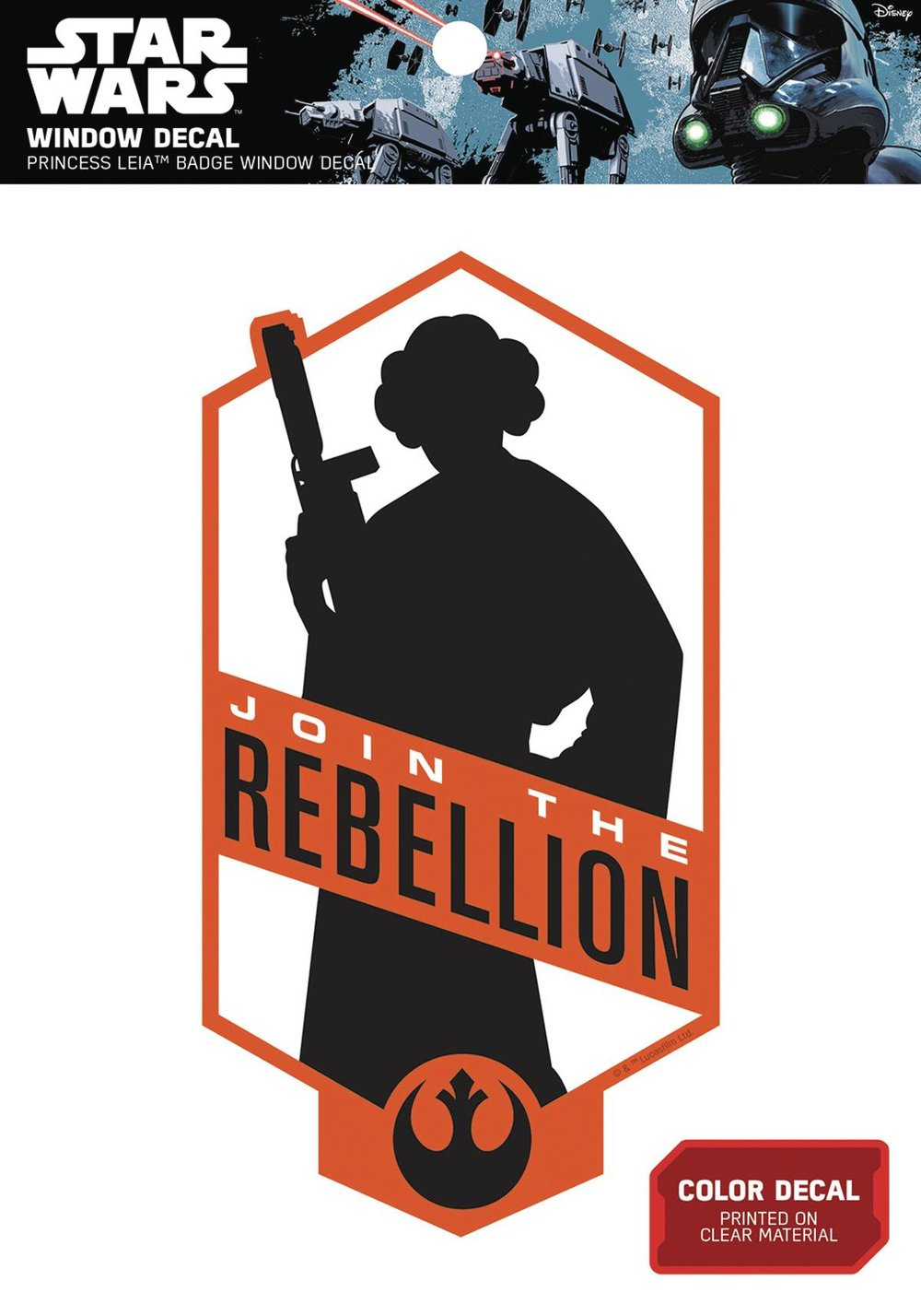 STAR WARS PRINCESS LEIA JOIN THE REBELLION WINDOW DECAL.jpg