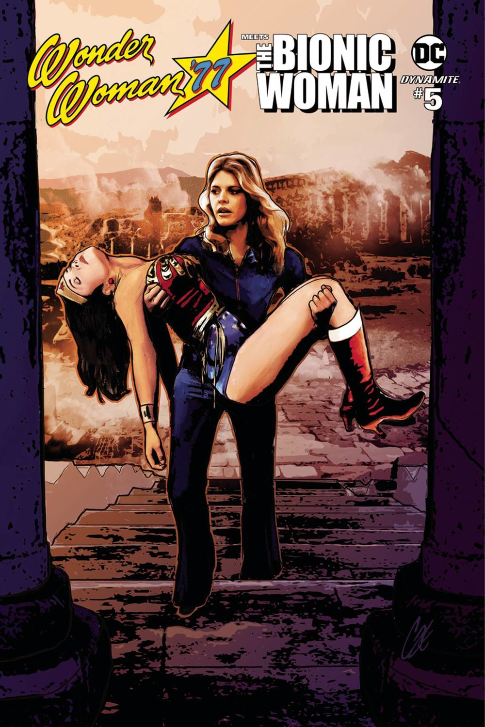WONDER WOMAN 77 BIONIC WOMAN 5 of 6 CVR A STAGGS.jpg