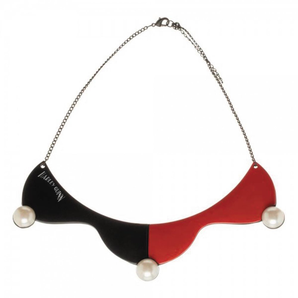 DC COMICS HARLEY QUINN COLLAR CHOKER NECKLACE.jpg