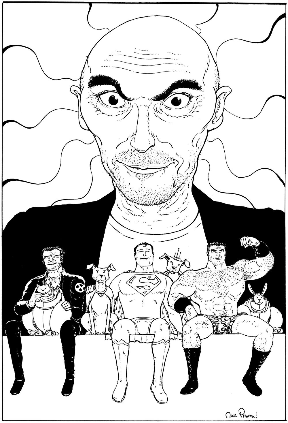 Grant Morrison by Nick Pitarra.