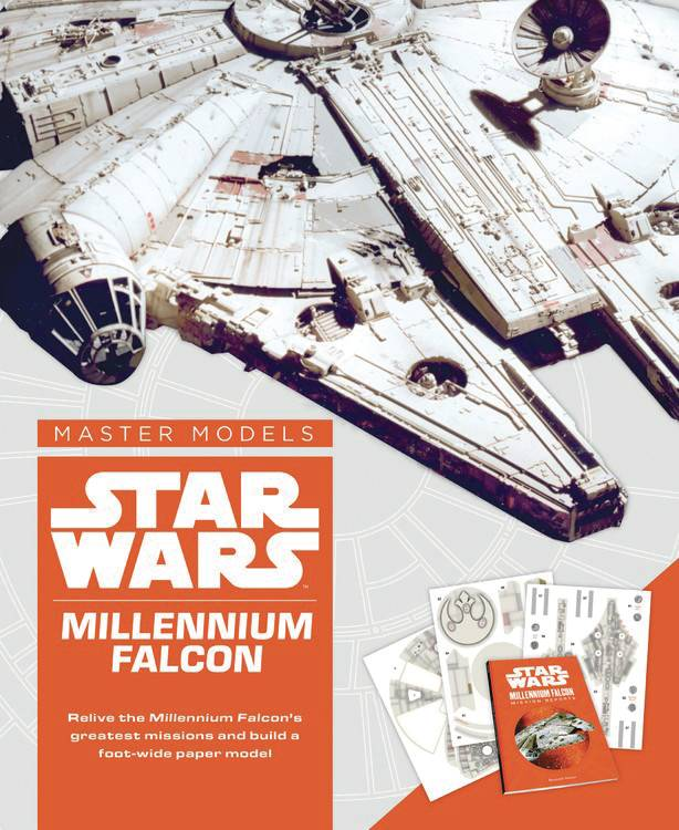 STAR WARS MILLENNIUM FALCON BOOK WITH PAPER MODEL KIT.jpg