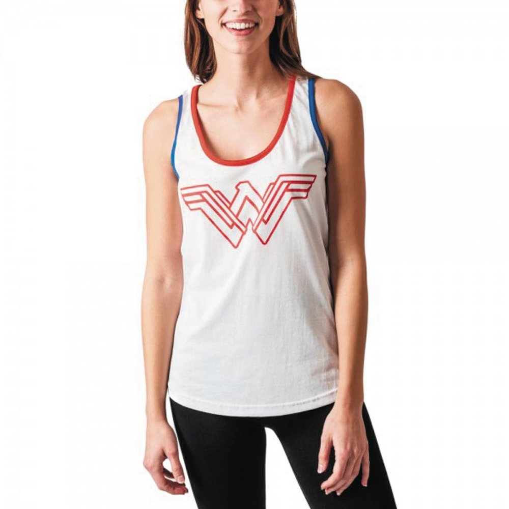 DC MOVIE WONDER WOMAN JRS WARRIOR WHITE TANK MED.jpg