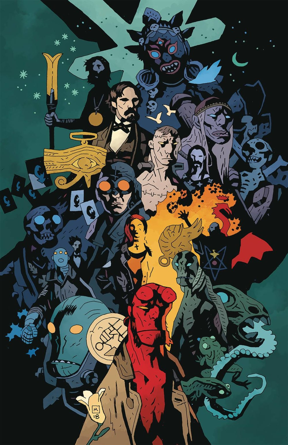 HELLBOY DAY 2019 DOUBLE SIDED TIMELINE POSTER (BUNDLE OF 25).jpg