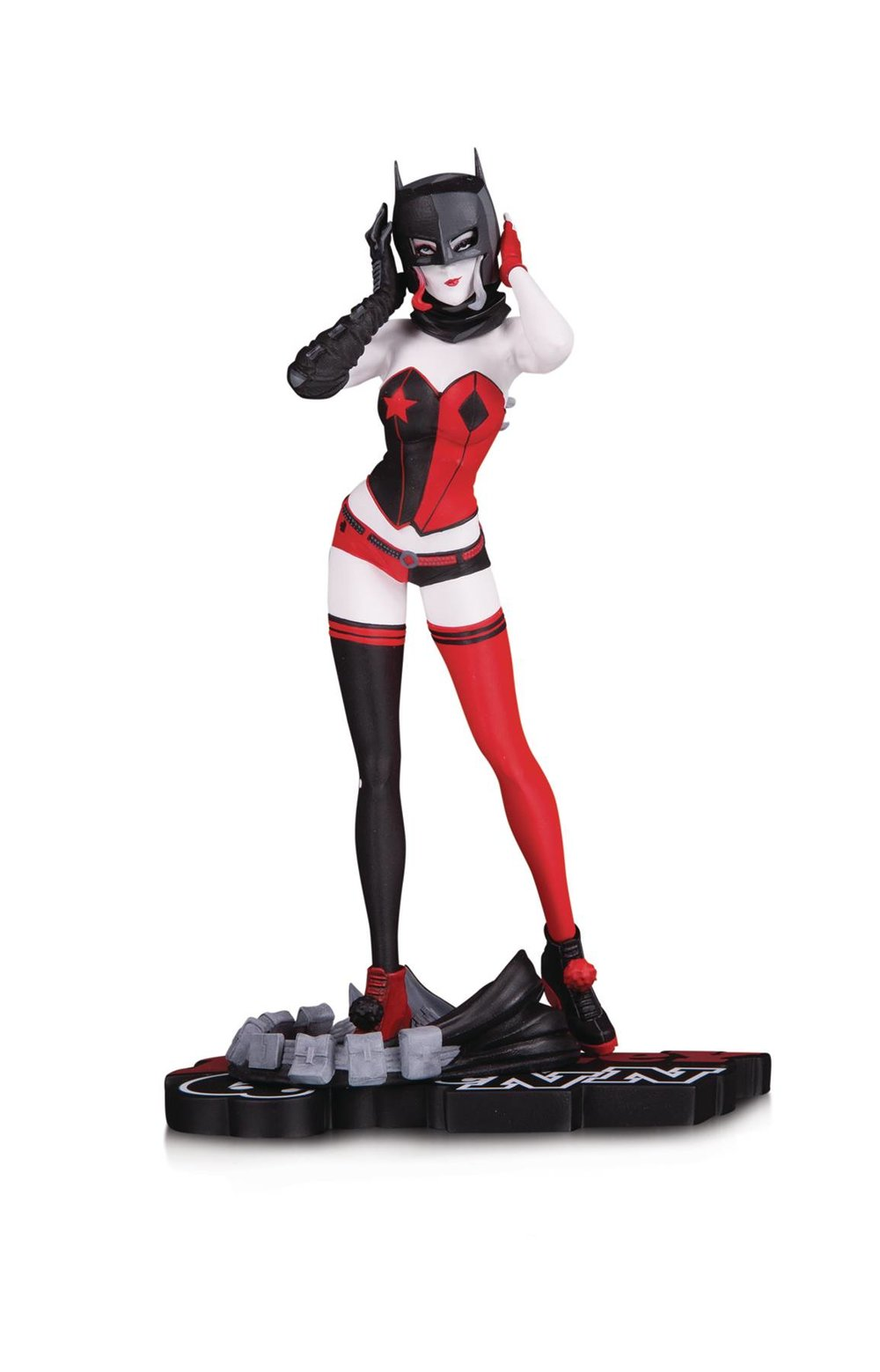 HARLEY QUINN RED WHITE & BLACK STATUE BY JOHN TIMMS.jpg