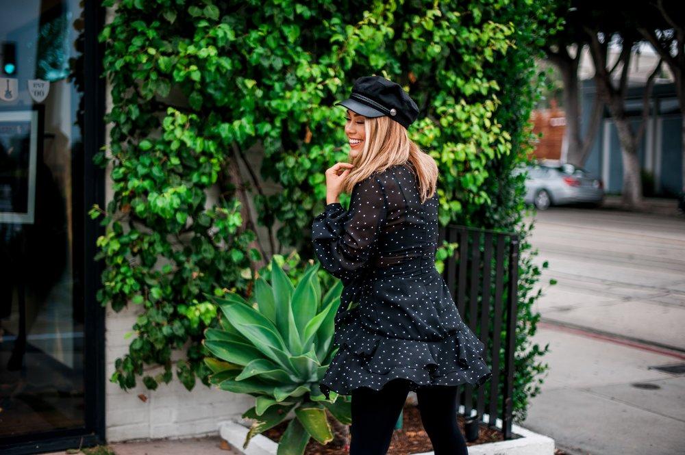Balenciaga Polka Dot Dress-Balenciaga in his Fall/ Winter 2017-Polka Dots-Dress-dress-ruffles-Ruffles-Polka Dot Dress-polka dot dress-polka dots