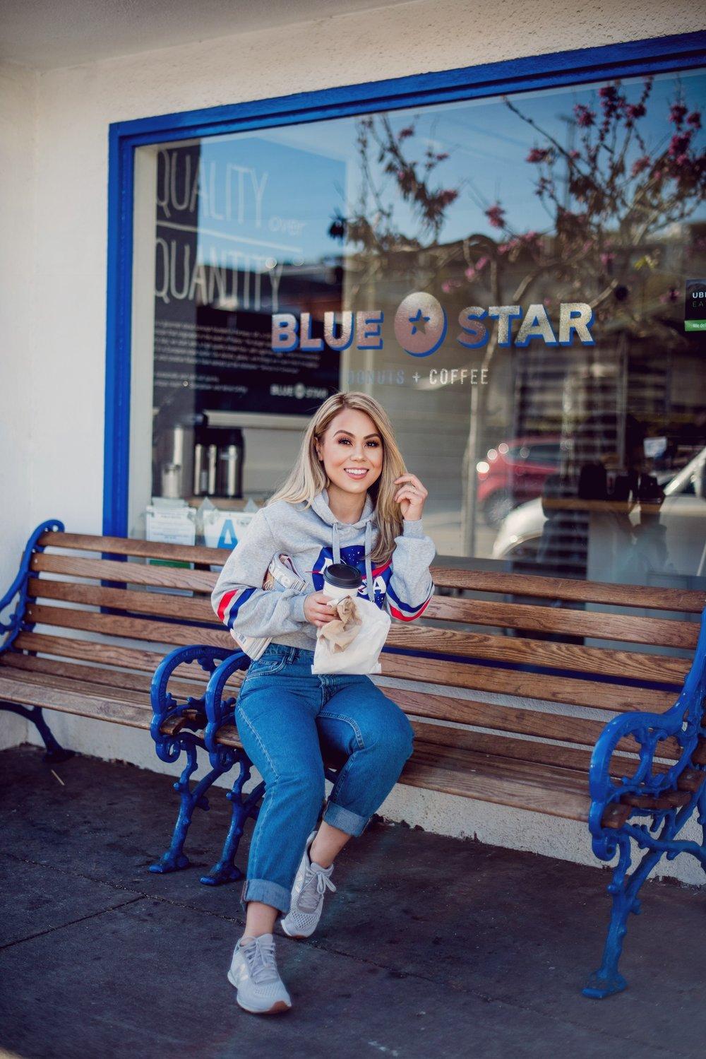 H&M Top, h&m top, H&M Sweater, h&m sweater, h&m hoodie, H&M Hoodie, H&M Women, h&m women, Beauty Blogger, beauty blogger, latina blogger, Latina Blogger, Los Angeles Blogger, los angeles blogger, anastasia beverly hills brow definer, Anastasia Beverly Hills Brow Definer, Anastasia Beverly Hills, anastasia beverly hills, Nyx, nyx, NYX Banana Powder, nyx banana powder, Mac Cosmetics, mac cosmetics, mac pro longerwear, Mac Pro Longwear, Butter Bronzer, butter bronzer, Ardell Lashes, ardell lashes, Lashes, lashes, beauty junkie, Beauty Junkie, Zara Jeans, zara jeans, Zara Women, zara women, Zara Clothing, zara clothing, Women's Fashion, women's fashion, Clothing for Women, clothing for women, H&M New Arrivals, h&m new arrivals, H&M Trends, h&m trends,Earrings, earrings, studs, Studs,accessory junkie, Accessory Junkie, Outfit of The Day,outfit of the day, Morphe Cosmetics,morphs cosmetics, Forever21, forever21, forever21 accessories, Forever21 Accessories, silver jewelry, Silver Jewelry, Affordable Style, affordable style, LA Blogger, la blogger, Los Angeles, los angeles, Latina Blogger, latina blogger, H&M Women, h&m women, H&M Style, h&m style, Blue Star Cafe, blue star cafe, blue star coffee shop, Blue Star Coffee Shop, Blue Star Donuts and Coffee, blue star donuts and coffee, Blue Star Santa Monica, blue star santa monica, NASA Hoodie, nasa hoodie, space hoodie, Space Hoodie, NASA Hoodie Women, nasa hoodie women, Space Sweater, space sweater, new balance sneakers, New balance Sneakers, Zara Mom Jeans, zara mom jeans, space cat, space travel, Space Travel, Street Style, street style, sweater season, Sweater Season, Donut Lover, donut lover, OOTD, ootd, Space Cat,