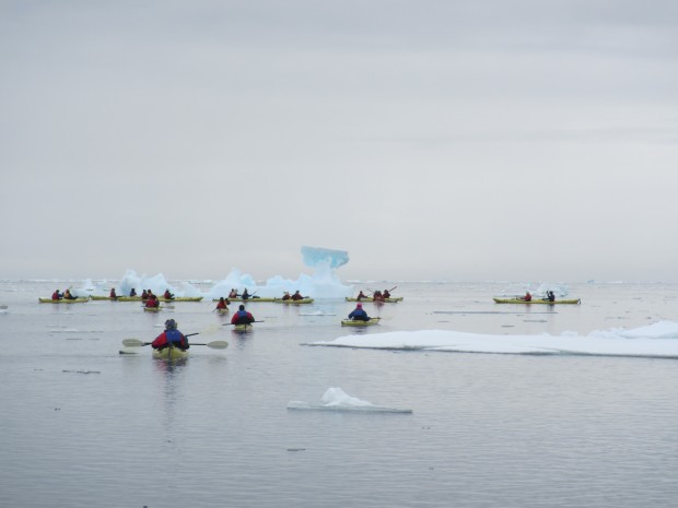 Kayaking south of the Antarctic Circle