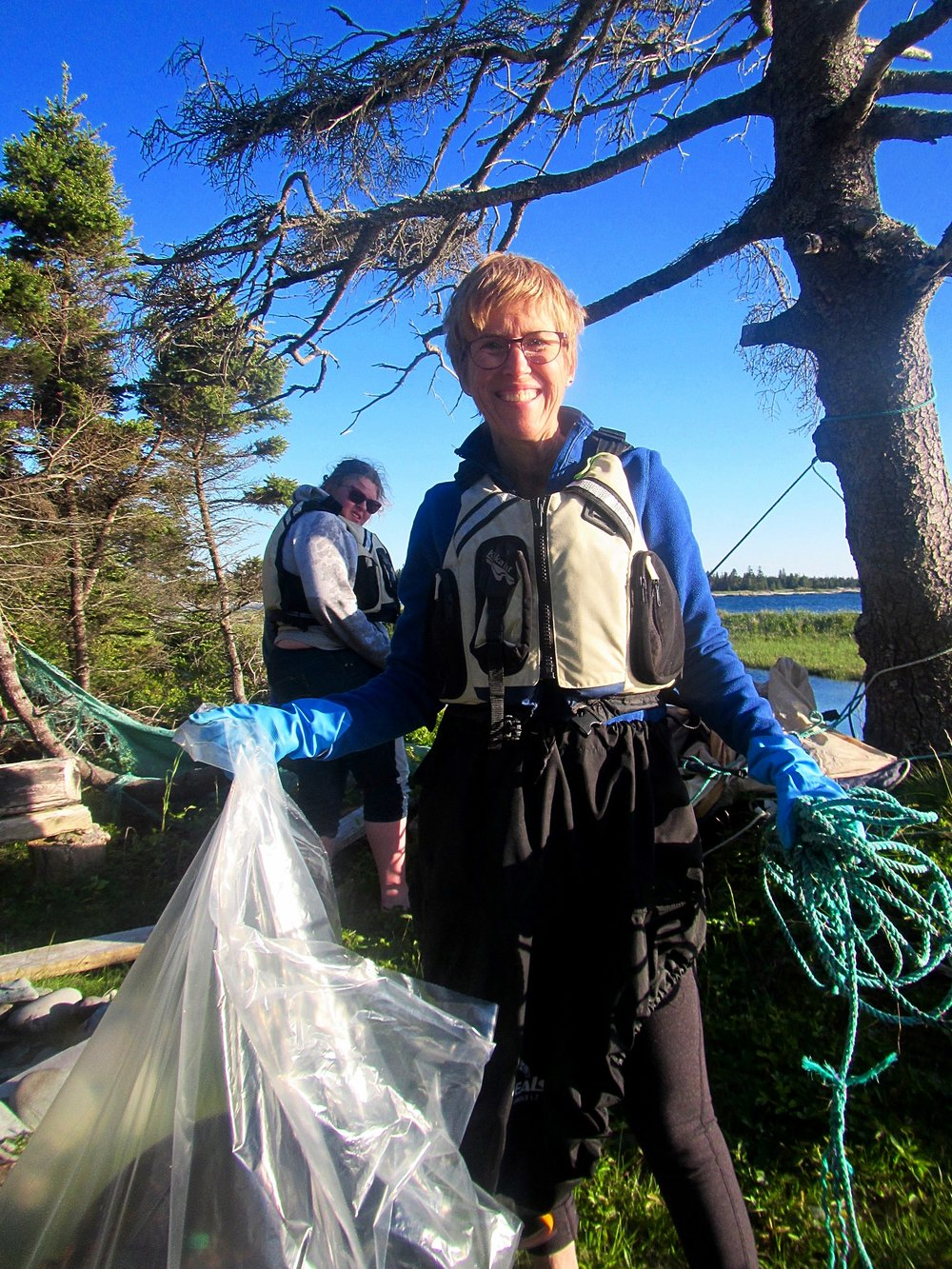 Nova Scotia beach clean up, Cape LaHave Island