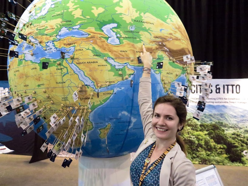Olya Espiova at CITES CoP17, Johannesburg, South Africa.