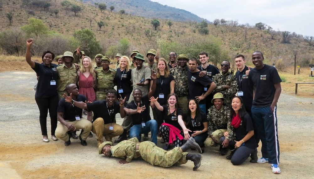 IFAW Delegates at Pilanesberg, South Africa, with the anti-poaching team led by Reginah Mogwera.