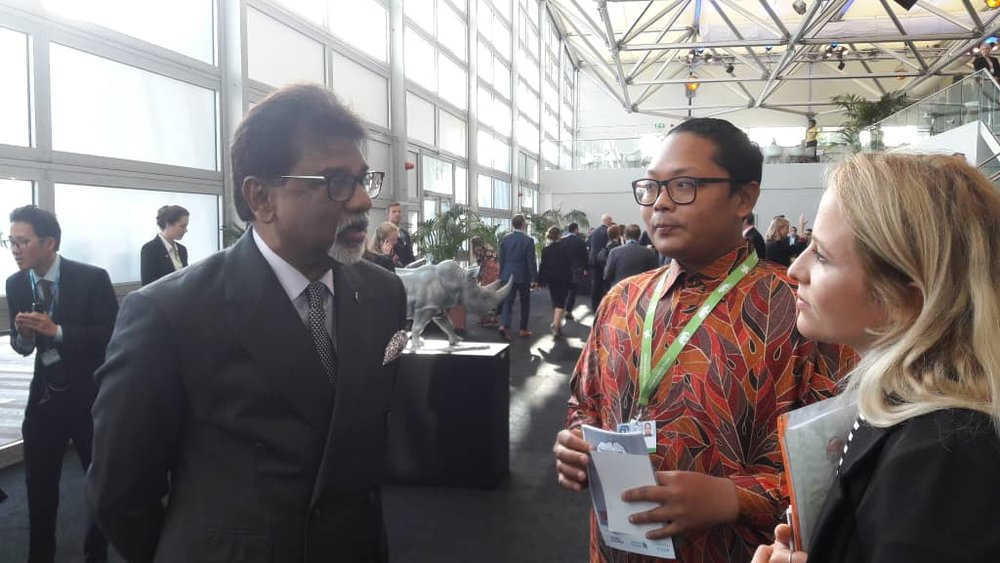 With the Malaysian Minister for Natural Resources. -