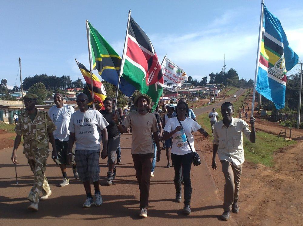 Taking part in the Ivory belongs to Elephants, East Africa walk.