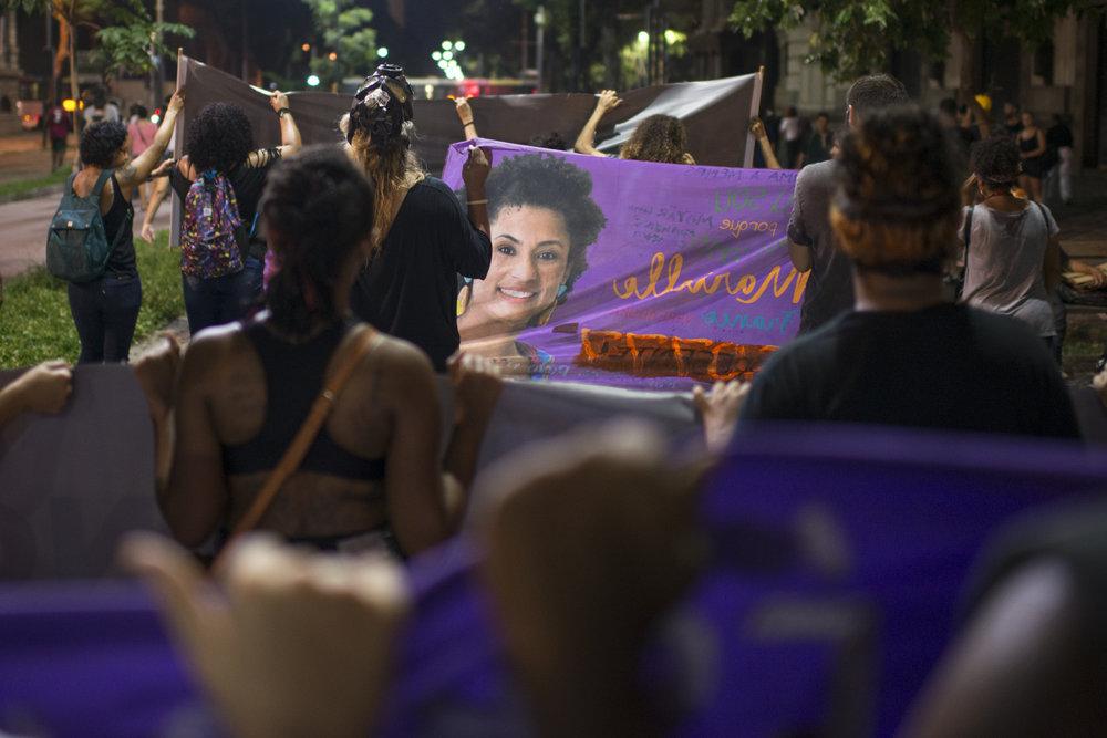 March, 15, 2018. 7:30pm. The majority of the demonstrators were  black women .