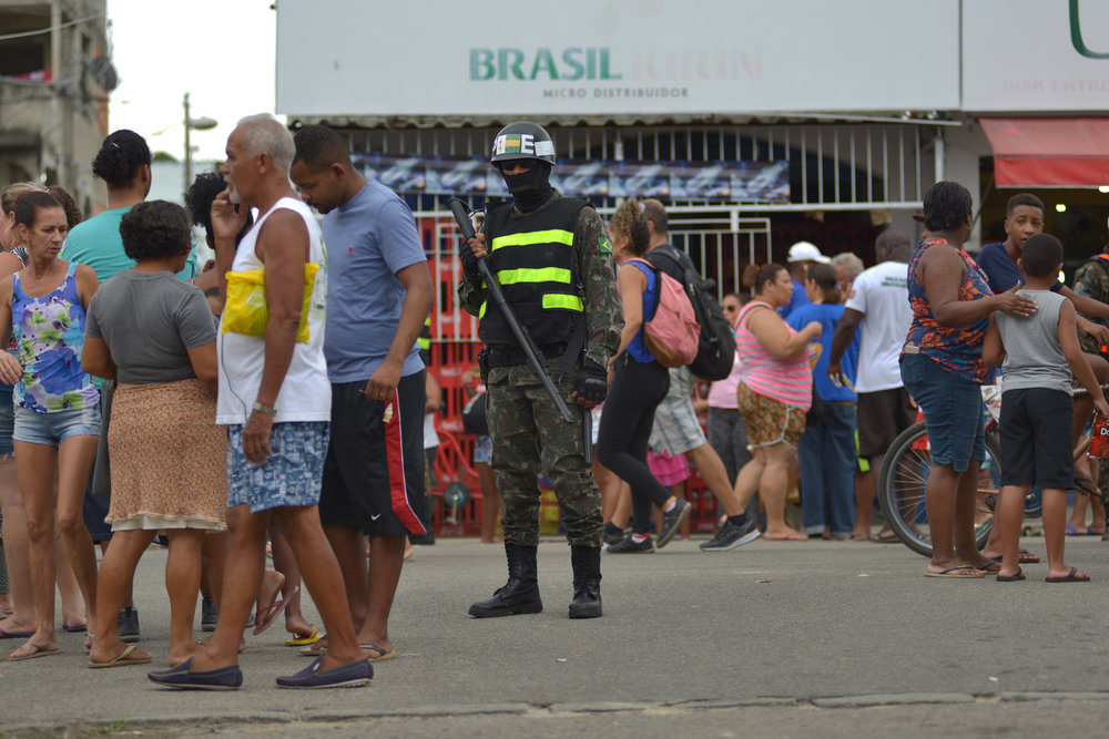 March, 17, 2018. 9:30am.One of the fights of Marielle was  against the federal intervention  in Rio de Janeiro. Because of the corruption, the governor was with no control and the president Michel Temer made the federal intervention putting the leader of the Brazilian army, general Walter Braga Netto, as the intervener in the state's public security.