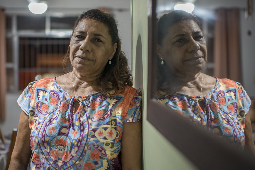 March, 19, 2018. 10pm.  Marinete da Silva , 66 years old, lawyer, at her house. An extraordinary strong woman, another mother who loses her kid in Rio de Janeiro.