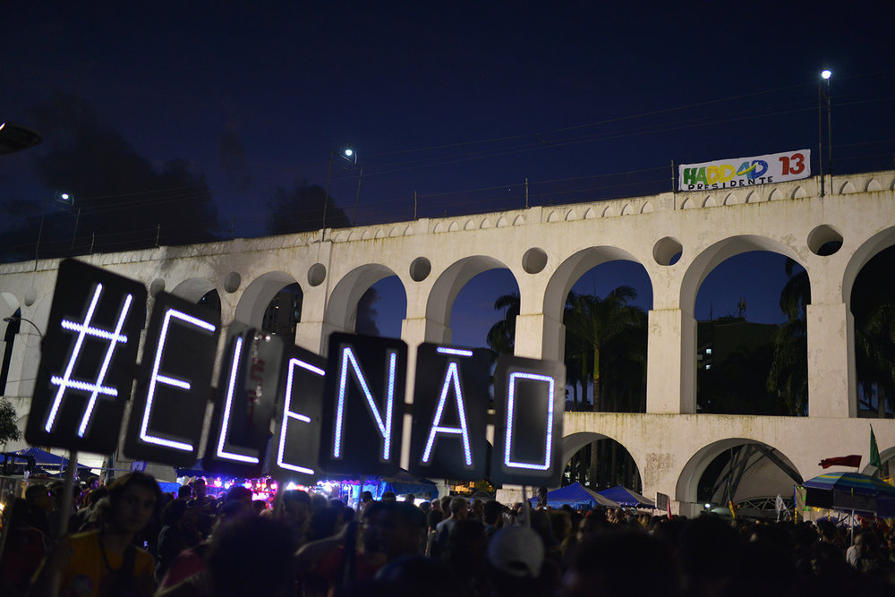 #EleNão #NotHim & #Haddad13. 20 Oct 2018 © Lucas Landau