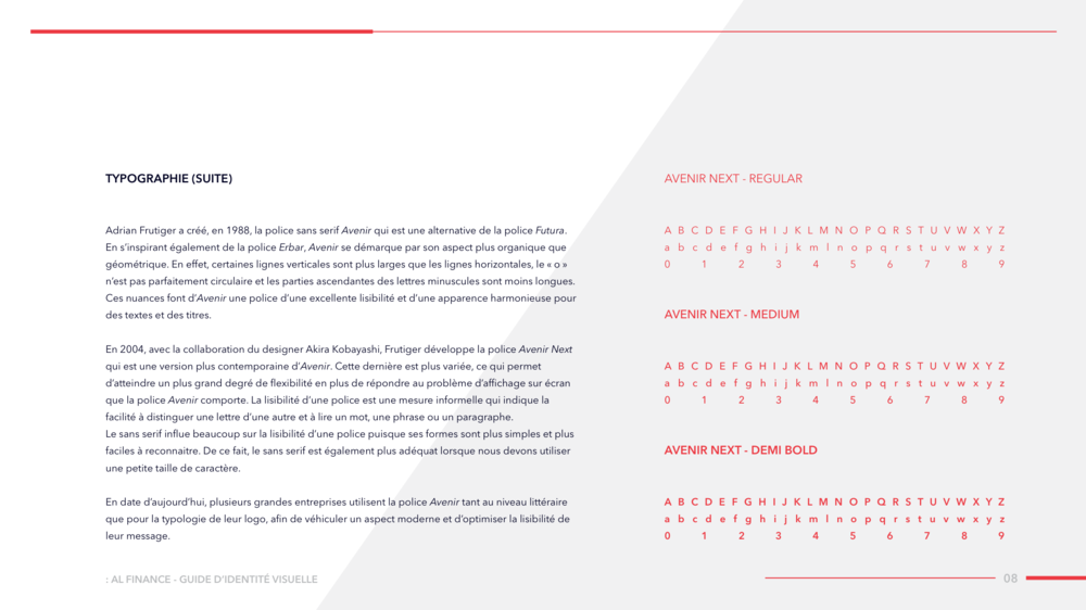 AL FINANCE Visual Identity Guide Designed by threefold Agency Page 11
