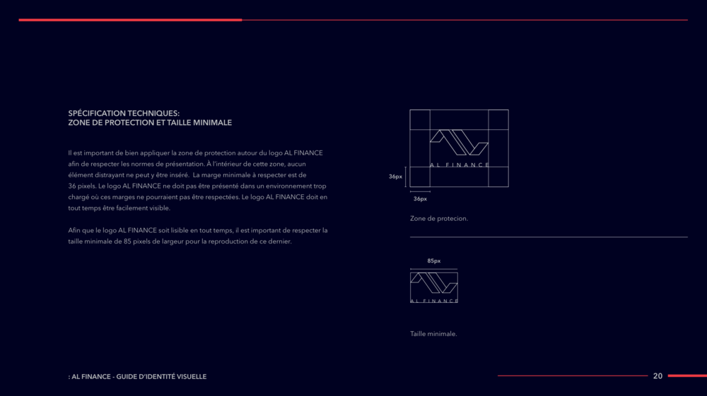 AL FINANCE Visual Identity Guide Designed by threefold Agency Page 21