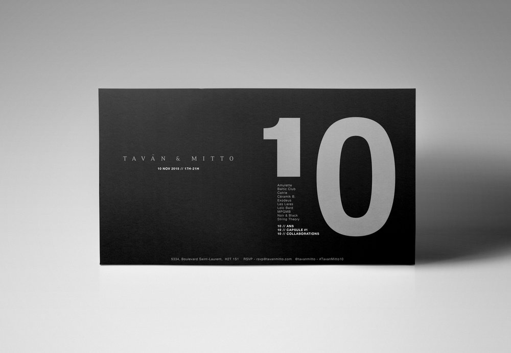 Graphic Design for Tavan & Mitto 10th Anniversary by threefold agency 2