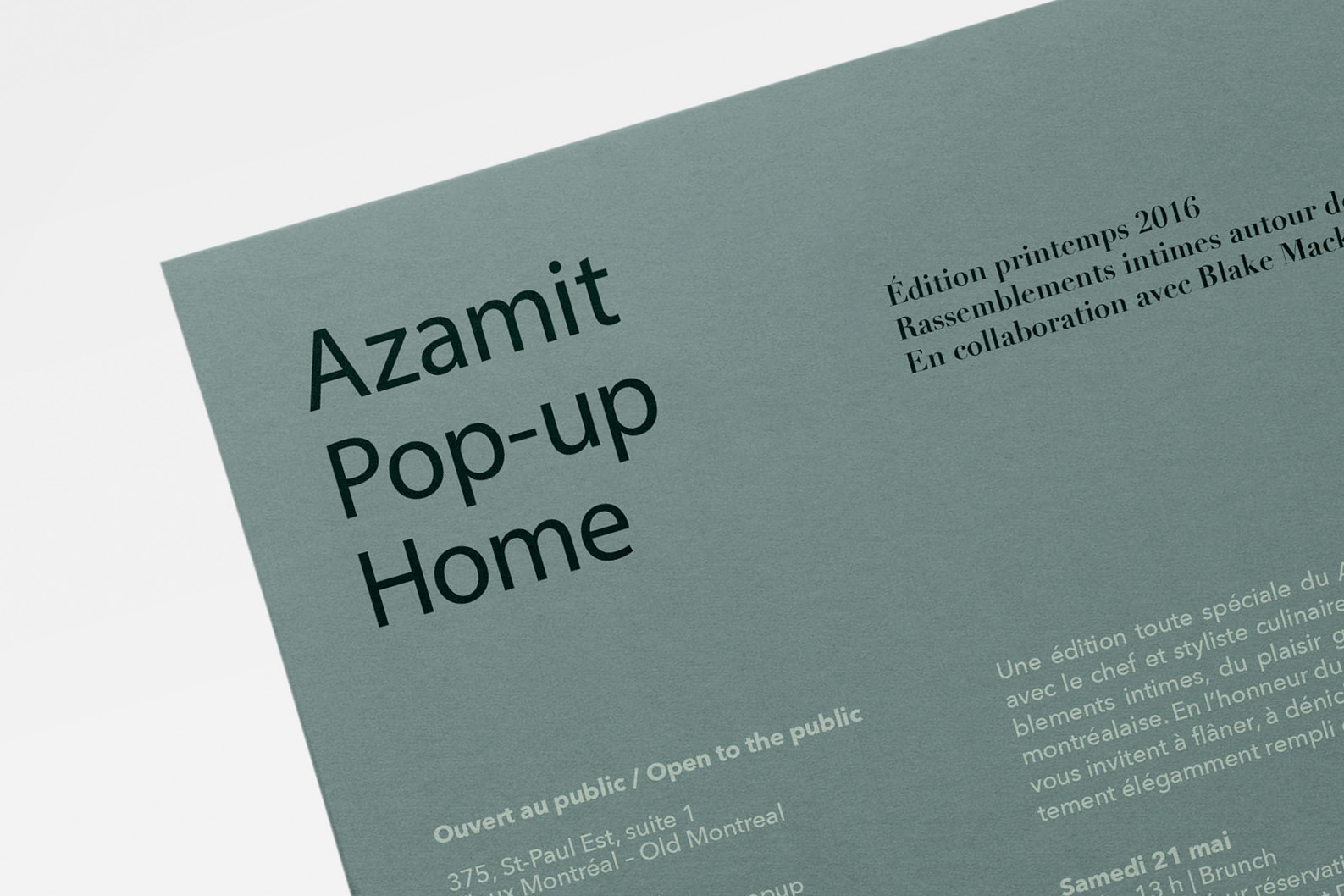 Azamit Pop-Up Home Website and Graphic Design by threefold
