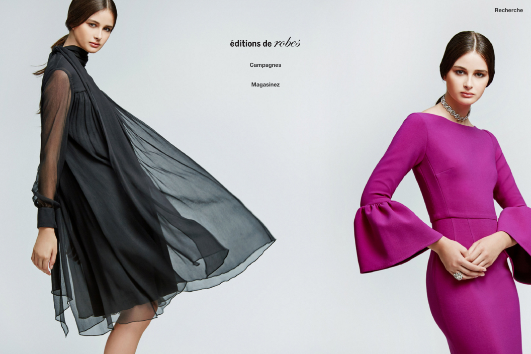 Editions de Robes Website Design by threefold