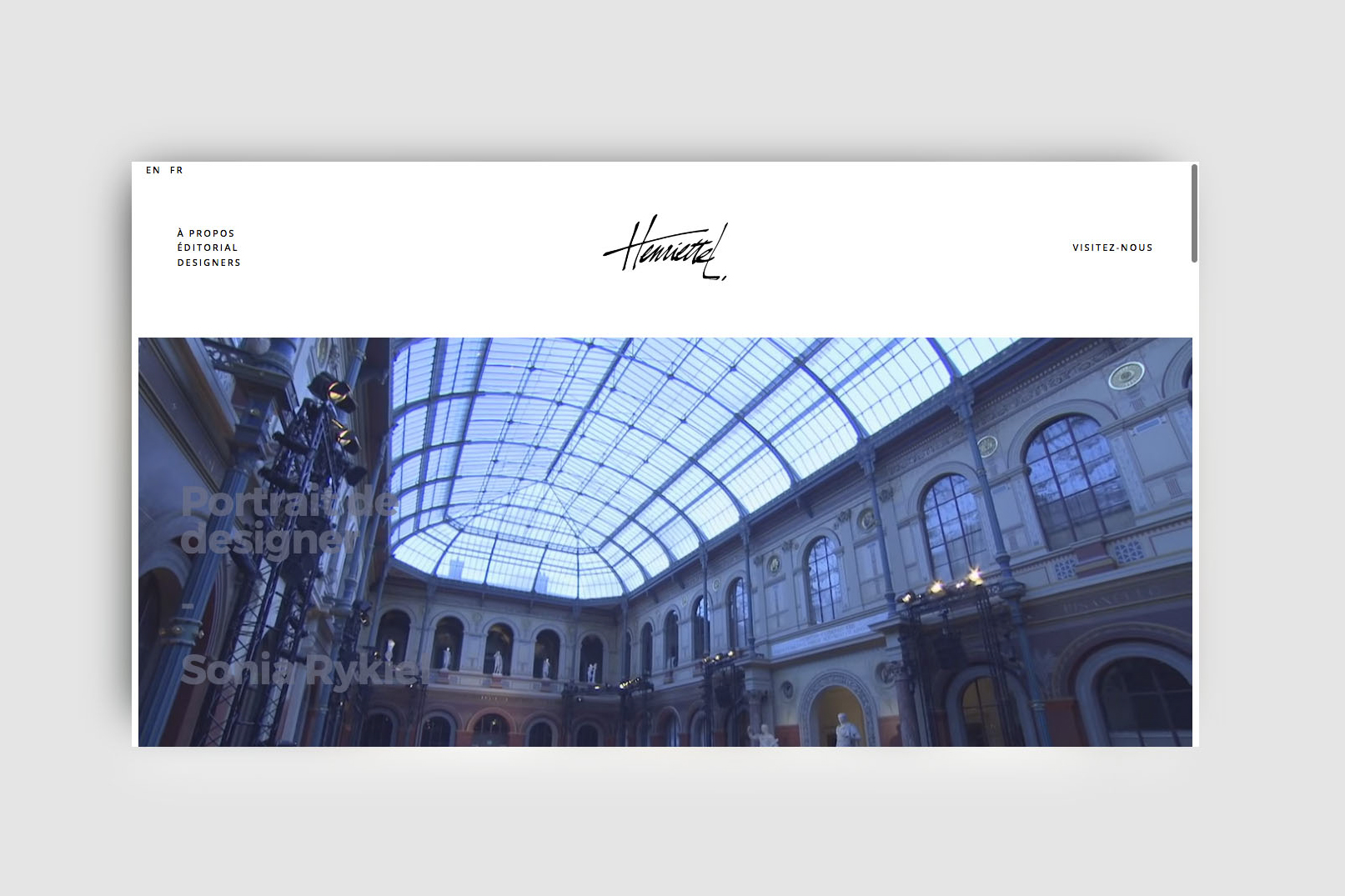 Henriette L. Website and Graphic Design by threefold