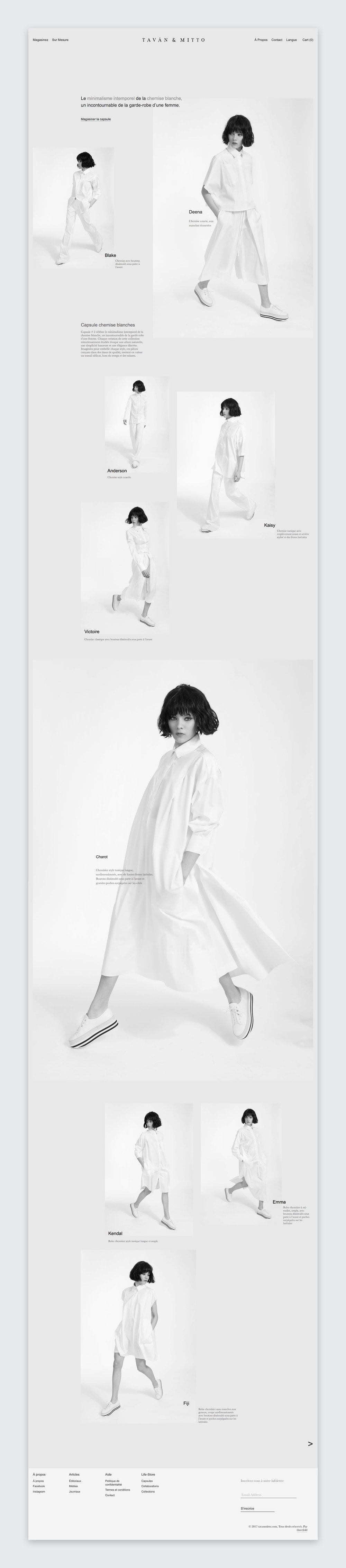 Tavan & Mitto  2nd capsule collection website design by  threefold