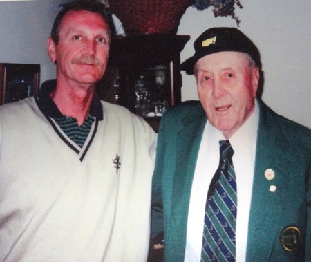 Golf Professionals, Herm Keiser Jr. and his father Herman Keiser, who won the Master's Golf Tournament in 1946!