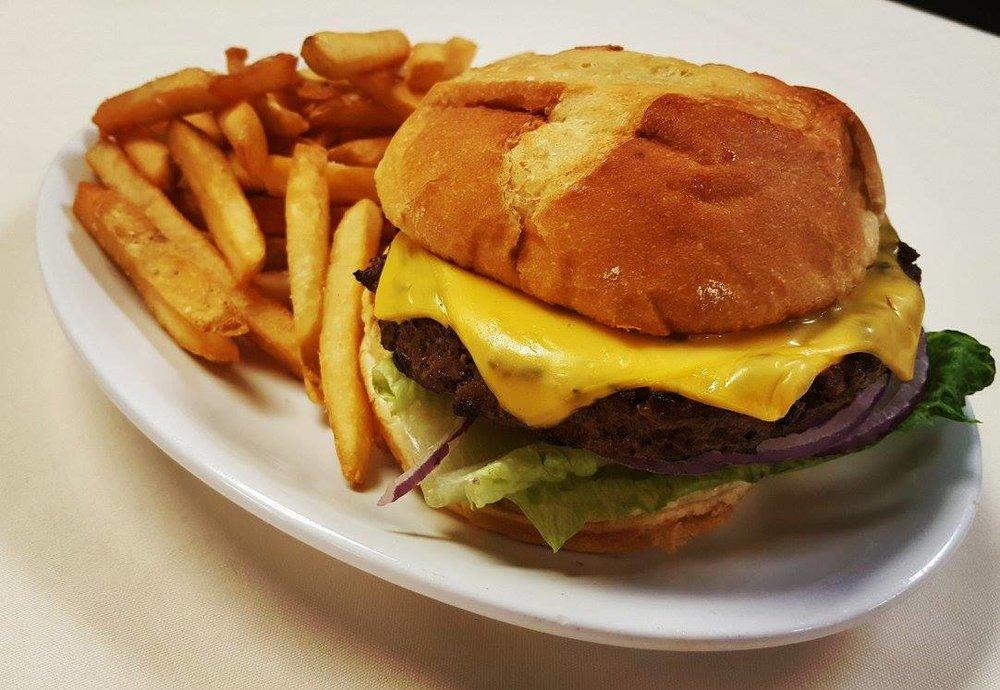Grill House Menu - Kielbasa & Sauerkraut $8* Brisket Burger - $10Brautwurst & Saurkraut - $8* Dogs - $4 Hebrew NationalSmoked Sausage - $8Sausage Peppers - $8Beyond Burger - $12Hanah Special - TBDWraps - choice of 3* Chicken caesar salad - $6Grilled mushroom caesar - $6Roasted red pepper veggie wrap $6BLT - $6 (mayo)Buffalo Chicken wrap $6Sandwiches - choice of 2Ham & Cheese - $6Roast Beef - $6Smoked Turkey - $6Tuna Sandwich * = everyday Item