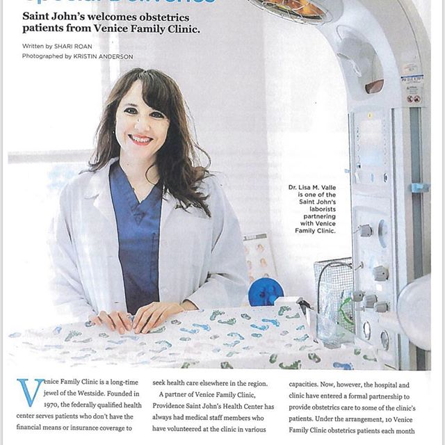 Breakthroughs Magazine Article by Shari Roan# Photos by: @kristinandersonstudios Please donate to @venicefamilyclinic