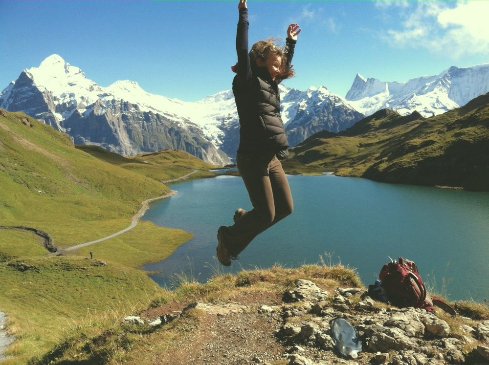 Breaking free on a hike in Switzerland!