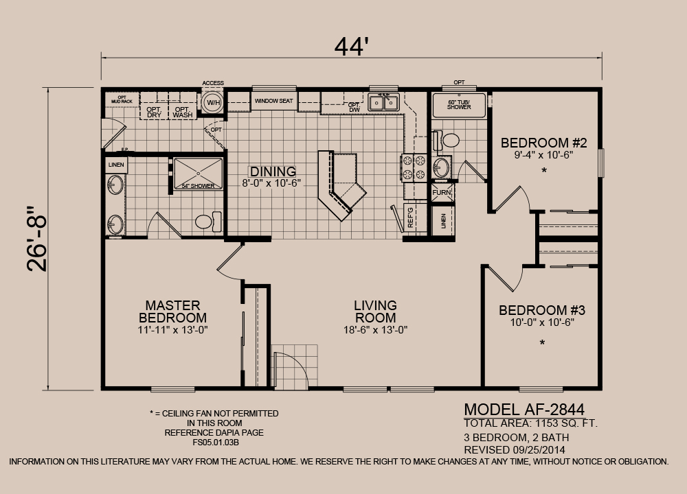 American Spirit Homes-American Freedom 2844, Floor Plan