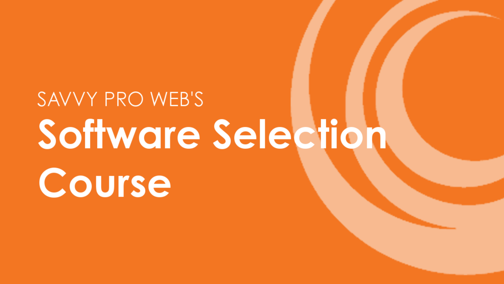 Software Selection Course