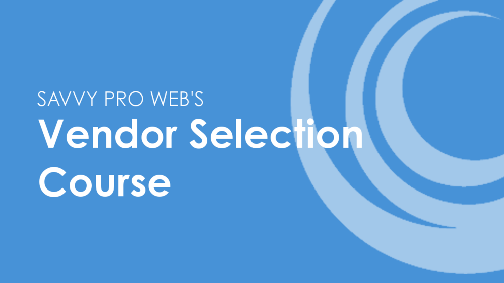 Vendor Selection Course