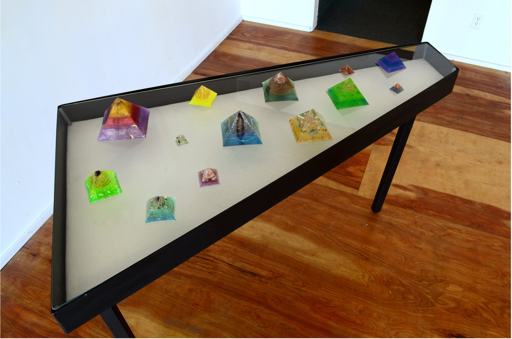 Selection of Orgonite Pyramids, 2016