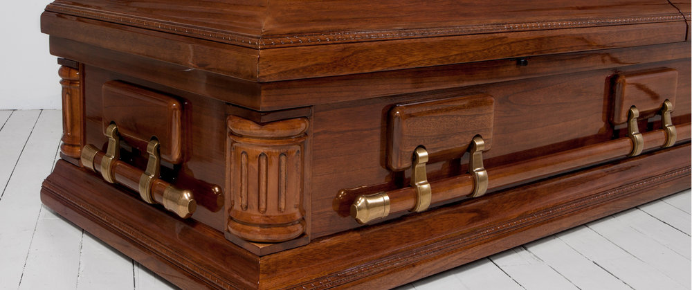 Premium caskets.<br> Built by hand. <br>Starting at $999.