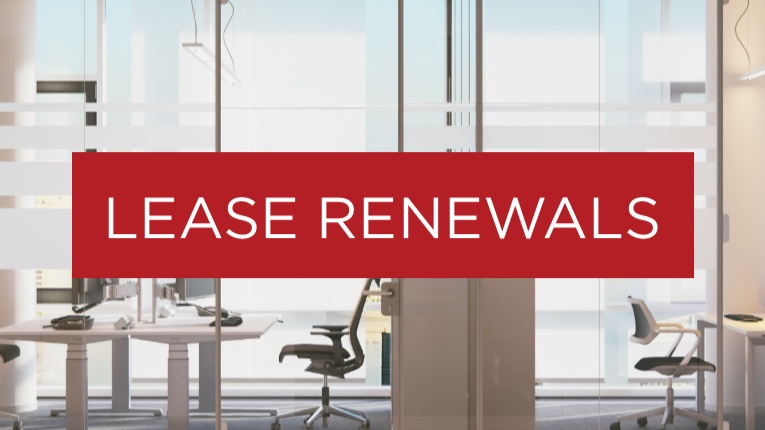 When it comes to renewing your lease, our #1 priority is to get you the most advantageous terms at a price that works for you. We'll use our superior market knowledge to leverage your negotiations in your favor while you work on keeping your business in great health.