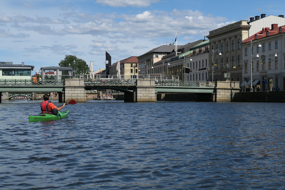Paddling around Gothenburg