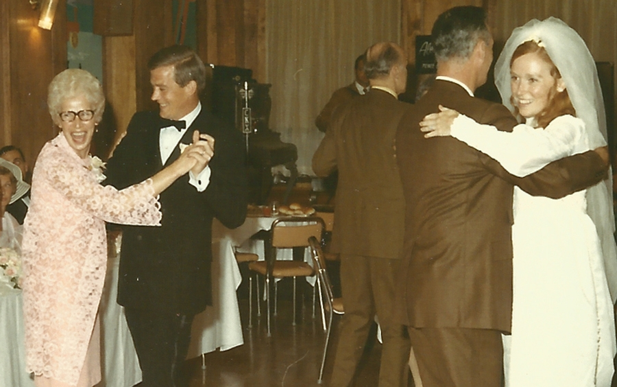 In 1970, Bob and Judy got hitched in Brandon, Manitoba. Bob went dancing with his mom, Sally, and Judy got a dance lesson from Bob's dad, Jim. Not a bad start.