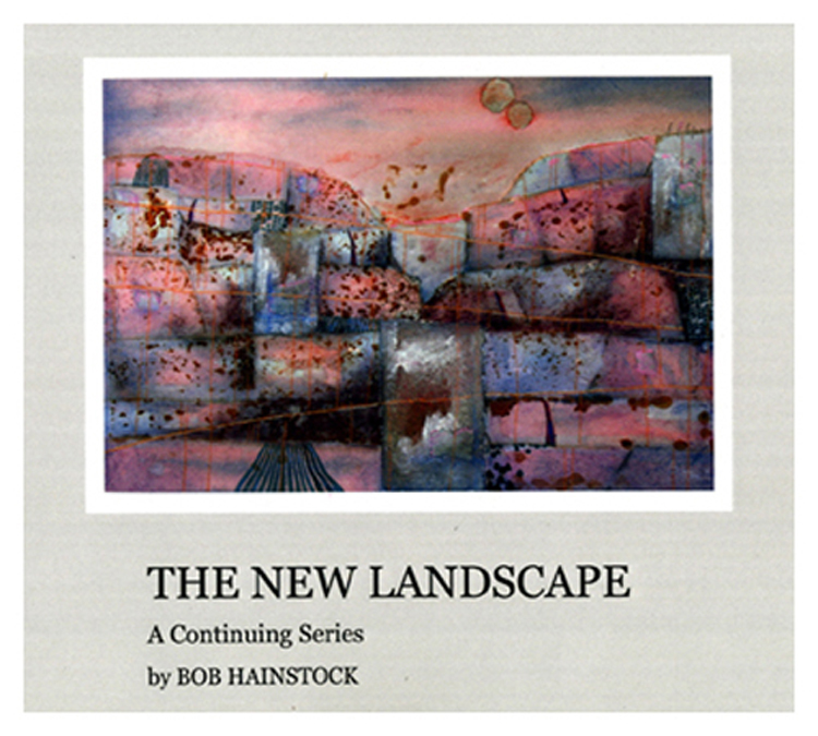 The first in an ongoing series of books detailing the origins and phases of Bob's popular, New Landscapes series of mixed media work. Copies of the book have been complimentary companion pieces to large works purchased by visitors.