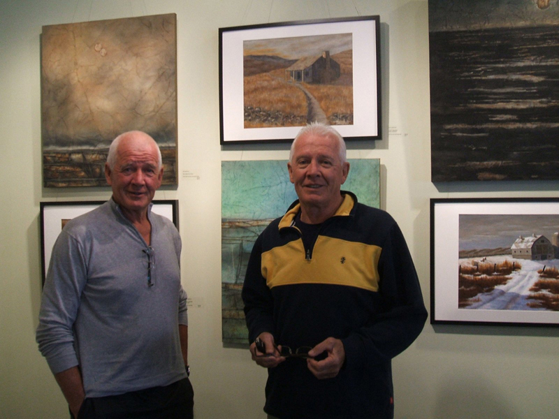 in 2014, Bob and twin brother, Clay, held a unique two-person exhibition in Winnipeg featuring their different styles and views of local landscape. At the time Clay lived and painted in Neepawa, but has since moved to BC's Okanagan Valley.