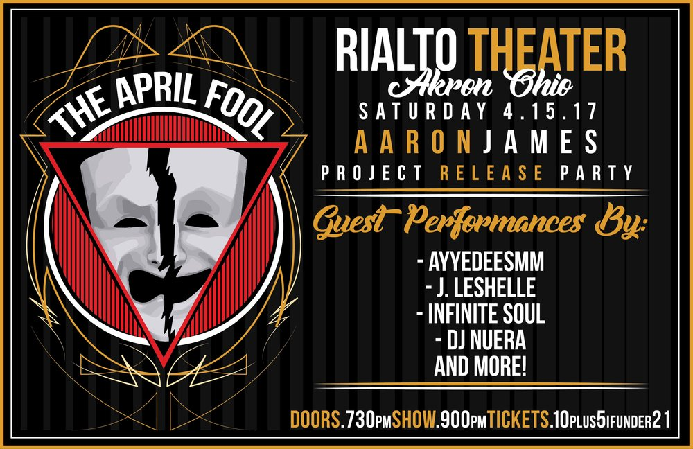 I'll be providing the soundtrack at The Rialto Theater for The Aaron James Project Release Party.