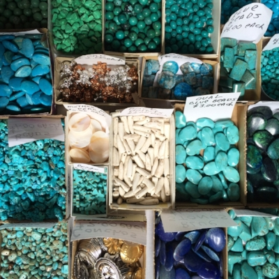 Local turquoise on offer along the Turquoise Trail // Photo by Kerry M. Halasz