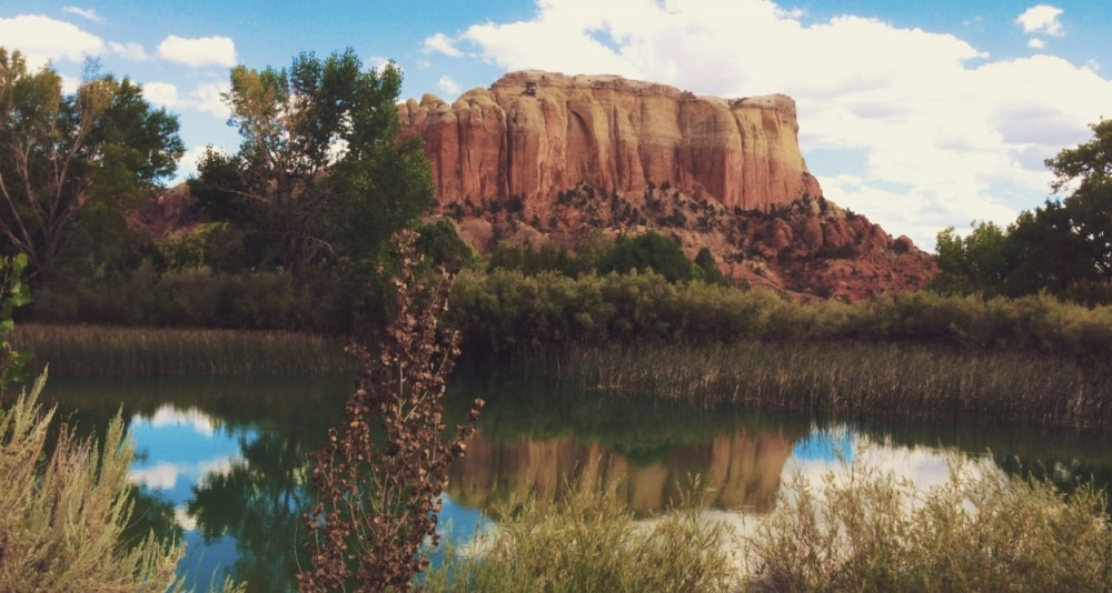 One of many red rock formations at Ghost Ranch near Abiquiu // Photo by Kerry M. Halasz