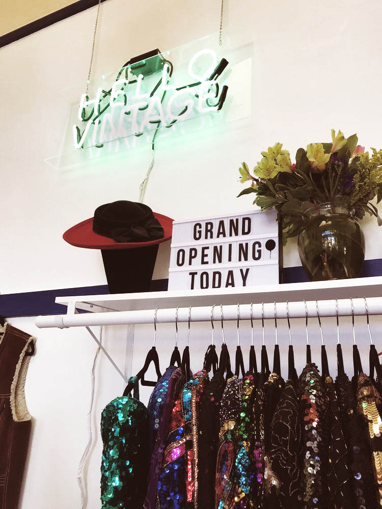 Opening day photo of the Hello Vintage shop in Berkley, CA photo courtesy of Yelp