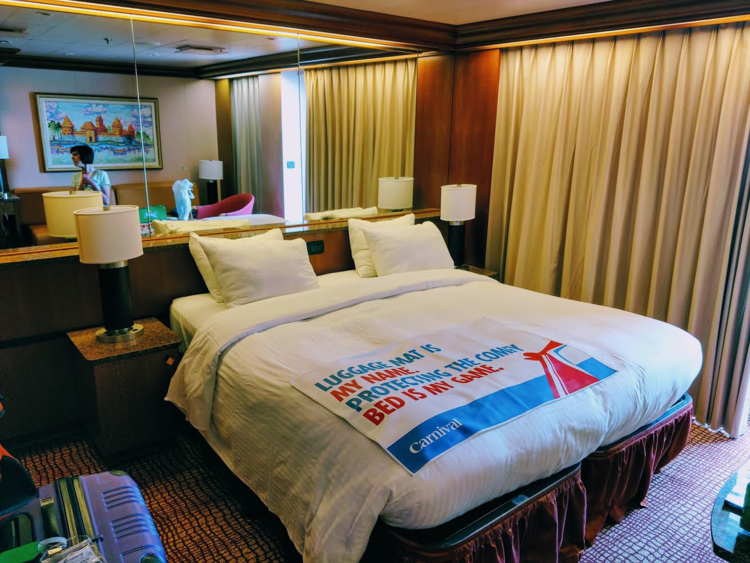 We had an ocean suite on this cruise.