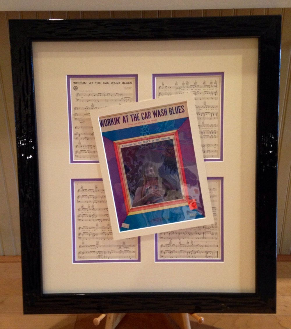 Custom Framed Sheet Music