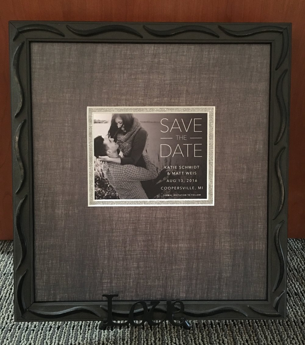 Custom Framed Wedding 'Save the Date'